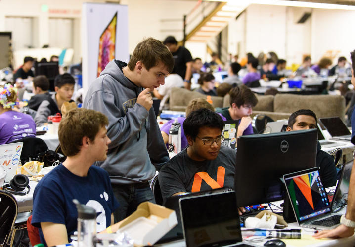 Hackers hard at work at BoilerMake II